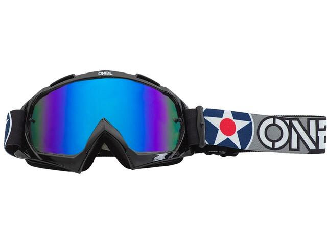 O'Neal B-10 Goggles warhawk black/gray-radium blue